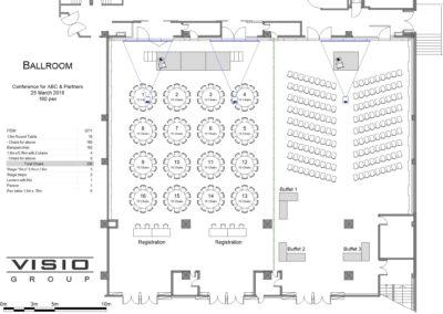 Sample floor plan created in eventdraw