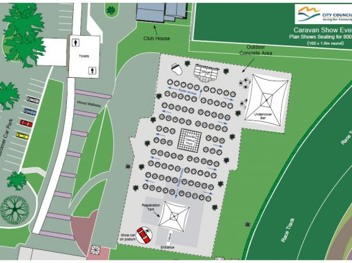 Caravan Show Event Site Map